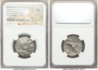 MACEDONIAN KINGDOM. Alexander III the Great (336-323 BC). AR tetradrachm (25mm, 10h). NGC XF. Late lifetime to early posthumous issue of 'Amphipolis',...