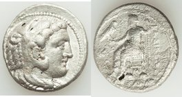 MACEDONIAN KINGDOM. Alexander III the Great (336-323 BC). AR tetradrachm (26mm, 16.58 gm, 11h). VF, crystalized, porous. Late lifetime-early posthumou...