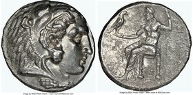 MACEDONIAN KINGDOM. Philip III Arrhidaeus (323-317 BC). AR tetradrachm (25mm, 12h). NGC Choice VF. Lifetime issue of Sidon, under Ptolemy I Soter as S...