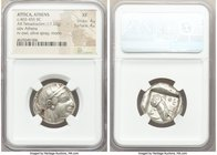 ATTICA. Athens. Ca. 465-455 BC. AR tetradrachm (23mm, 17.12 gm, 9h). NGC XF 4/5 - 4/5. Head of Athena right, wearing crested Attic helmet ornamented w...