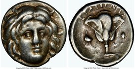 CARIAN ISLANDS. Rhodes. Ca. 275-230 BC. AR hemidrachm (12mm, 12h). NGC Choice VF. Ca. 275-250 BC, Erasicles, magistrate. Head of Helios facing, turned...