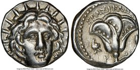 CARIAN ISLANDS. Rhodes. Ca. 250-205 BC. AR didrachm (18mm, 12h). NGC XF. Erasicles, magistrate. Radiate facing head of Helios, turned slightly right, ...