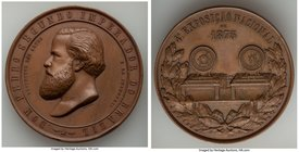 "Pedro II bronze ""Fourth National Exposition"" Medal 1875 AU, Rio de Janeiro mint, Meili-66. 54mm. 65.86gm.   HID09801242017"