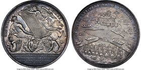 "Anne silver ""Expedition of Vigo Bay"" Medal 1702 MS64 NGC, Betts-94, MI-235/17. 47mm. Very rare medal.  HID09801242017"