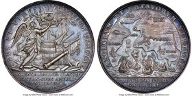 "Anne silver ""Expedition to Vigo Bay"" Medal 1702-Dated MS63 NGC, Betts-101. 41mm.   HID09801242017"