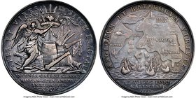 "Anne silver ""Battle of Vigo Bay"" Medal 1702-Dated XF45 NGC, Betts-101, MI-238/22. 40mm. Dark gray tones prominent on the peripherals.   HID09801242017"