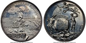"""Louisburg Taken"" silver Medal 1758 MS62 NGC, Betts-410, MI-685/404. 45mm. By Thomas Pingo.  HID09801242017"