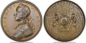 "George II brass ""Successes of 1759"" Medal 1759 MS63 NGC, Betts-418, MI-708/444. 44mm.  HID09801242017"