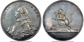 "George III silver ""Prosecution of the War with America"" Medal 1781 MS62 NGC, Betts-584, BHM-239. 53mm.   HID09801242017"