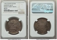 "George III silver ""Indian Peace"" Medal 1794 AU53 NGC, Jamieson-pg. 25. 32mm. By Miller. Rare.  HID09801242017"