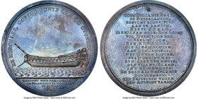 """Launch of warship De Hercules"" silver Medal 1782-Dated MS63 NGC, Van Loon-571. 57mm. Splashes of slate gray toning.  HID09801242017"