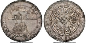 """Chamber of WIC in Groningen"" silver Medal 1683-Dated MS62 NGC, Betts-64, Van Loon-III-S-304. 45mm. Subtle luster through slate gray toning.  HID09801..."