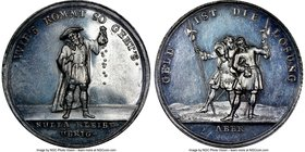 """John Law - Money Is The Thing"" silver Medal ND (1720) MS61 NGC, Betts-120. 38mm.  HID09801242017"