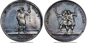"""John Law - Money Is The Thing"" silver Medal ND (1720) AU55 NGC, Betts-120. 38mm.   HID09801242017"