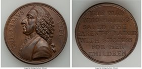 """William Pitt - Repeal of the Stamp Act"" bronze Medal ND (1766) AU, Betts-515, Eimer-713. 41mm. 26.57gm.   HID09801242017"