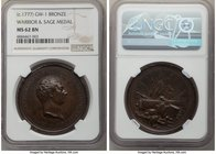 """Washington Warrior & Sage"" bronze Medal ND (c. 1777) MS62 Brown NGC, Betts-544, Baker-78. 40mm.  HID09801242017"