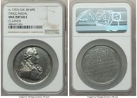"""George Washington Twigg"" white-metal Medal ND (c. 1792) UNC Details (Cleaned) NGC, GW-38, Baker-65. 35mm.   HID09801242017"