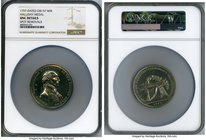 """Halliday"" white-metal Medal 1797-Dated UNC Details (Spot Removals) NGC, Baker-70T, GW-57. 55mm.  HID09801242017"
