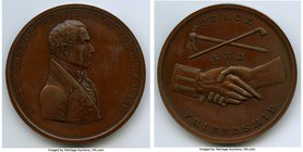 """James Monroe Indian Peace"" bronzed-copper Medal 1817-Dated AU, Julian-IP-10. 63mm. 126.37gm. By Moritz Furst.  HID09801242017"