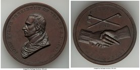 """John Tyler Indian Peace"" bronzed-copper Medal 1841-Dated AU, 51mm. 62.70gm.   HID09801242017"