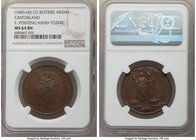 """Castorland"" copper Restrike Medal ND (1845-1860) MS64 Brown NGC, 32mm. E: Pointing Hand ""Cuivre"".   HID09801242017"