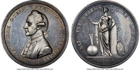"""Captain James Cook Memorial"" silver Medal 1779 MS64 Prooflike NGC, BHM-258. 43mm.  HID09801242017"