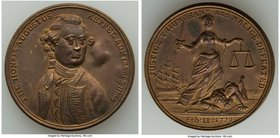 """Admiral Keppel Vindication"" copper Medal 1779 AU, Betts-564, BHM-221. 33.9mm. 17.04gm.   HID09801242017"