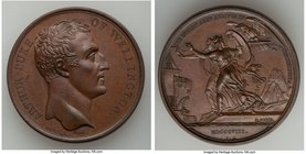 """Arthur Duke of Wellington - Arrival of the English Army"" bronze Medal 1808 UNC, BHM-635, Bram-742. 41mm. 35.73gm.   HID09801242017"