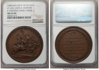 """Colonel John E. Howard Battle of Cowpens"" bronze Medal 1781 MS62 Brown NGC, Betts-595, Julian MI-9. 46.5mm. E: Pointing Hand, Cuivre.   HID0980124201..."