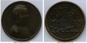"""Major General Gaines - Battle of Erie"" bronze Medal 1814-Dated (Post 1884) XF, Julian-MI-13. 65mm. 137.78gm.   HID09801242017"