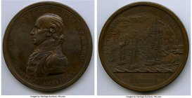 """Commodore Edward Preble"" bronze Medal 1804 UNC, Julian NA-3. 65mm. 87.92gm. Naval Action Against Tripoli.   HID09801242017"