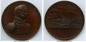 """Master Commandant Thomas Macdonough"" Medal 1814 UNC, Julian NA-15. 65mm. 131.78gm. Nearly flawless surfaces.  HID09801242017"
