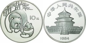 China; Panda Silver Proof 10 Yuan. 1984. . Proof. 27.00g. 0.9. 38.60mm. KM87 No Cert Number
