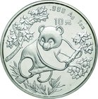 China; Panda Silver 10 Yuan. 1992. PCGS MS68 Small Date 瀋陽. FDC. 31.10g. 0.999. 40.00mm. KM397