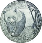 China; Panda Silver 10 Yuan. 2001. PCGS MS67. FDC. 31.10g. 0.999. 40.00mm. KM1365