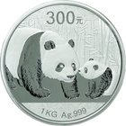 China; Panda 1kg Silver Proof 300 Yuan. 2011. . Proof. 1000.00g. 0.999. 100.00mm. KM1983