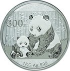 China; Panda 1kg Silver Proof 300 Yuan. 2012. . Proof. 1000.00g. 0.999. 100.00mm. KM2032