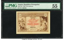 Angola Republica Portuguesa 50 Centavos 1923 Pick 63 PMG About Uncirculated 55.   HID09801242017