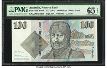 Australia Australia Reserve Bank 100 Dollars ND (1984) Pick 48a R608 PMG Gem Uncirculated 65 EPQ.   HID09801242017