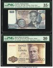 Austria Austrian National Bank 1000 Schilling 1983 Pick 152b PMG Choice Very Fine 35 EPQ; Spain Banco de Espana 5000 Pesetas 1979 (ND 1982) Pick 160 P...