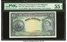 Bahamas Bahamas Government 1 Pound 1936 (ND 1963) Pick 15d PMG About Uncirculated 55 EPQ.   HID09801242017