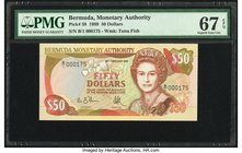 Bermuda Monetary Authority 50 Dollars 1989 Pick 38 PMG Superb Gem Unc 67 EPQ.   HID09801242017