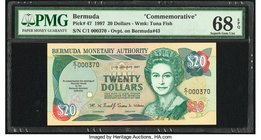 Bermuda Monetary Authority 20 Dollars 17.1.1997 Pick 47 Commemorative PMG Superb Gem Unc 68 EPQ.   HID09801242017