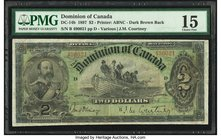 Canada Dominion of Canada $2 2.7.1897 DC-14b PMG Choice Fine 15.   HID09801242017