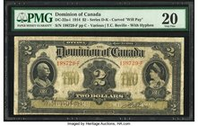 Canada Dominion of Canada $2 2.1.1914 DC-22a-i PMG Very Fine 20.   HID09801242017