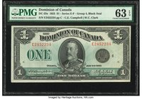 Canada Dominion of Canada $1 2.7.1923 DC-25o PMG Choice Uncirculated 63 EPQ.   HID09801242017