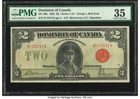 Canada Dominion of Canada $2 23.6.1923 DC-26b PMG Choice Very Fine 35.   HID09801242017