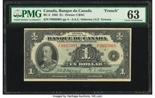 Canada Bank of Canada $1 1935 BC-2 PMG Choice Uncirculated 63.   HID09801242017