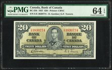 Canada Bank of Canada $20 2.1.1937 BC-25b PMG Choice Uncirculated 64 EPQ.   HID09801242017