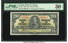 Canada Bank of Canada $20 2.1.1937 BC-25c PMG Very Fine 30 EPQ.   HID09801242017